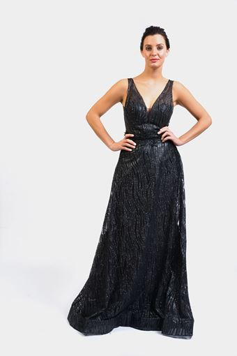 glitz-plunging-neck-evening-dress