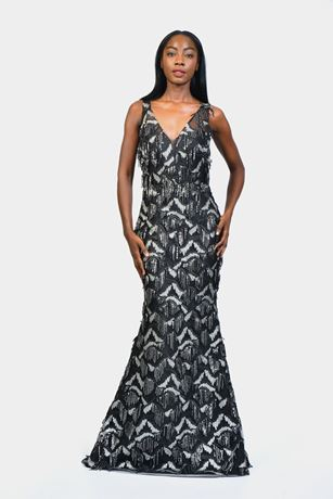 Sequin Tassle Mermaid Evening Dress