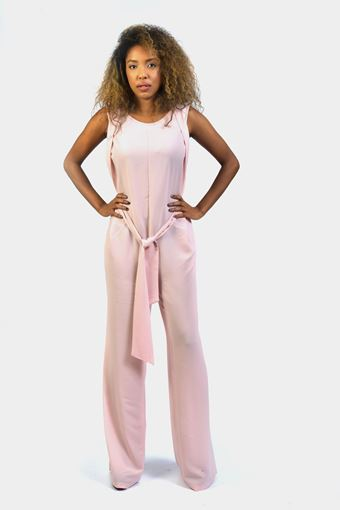 Tie Waist Detail Wide Leg Jumpsuit