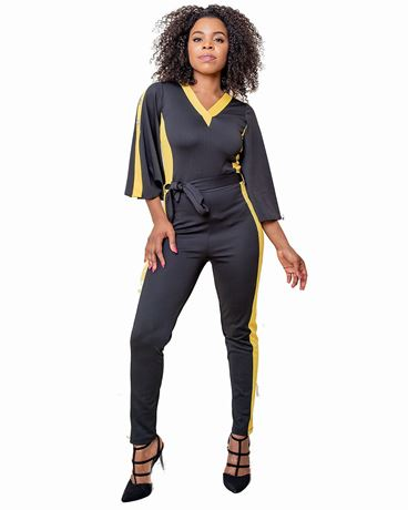 Slit Sleeve Jumpsuit