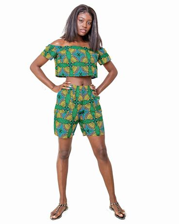 2 piece short and top Ankara